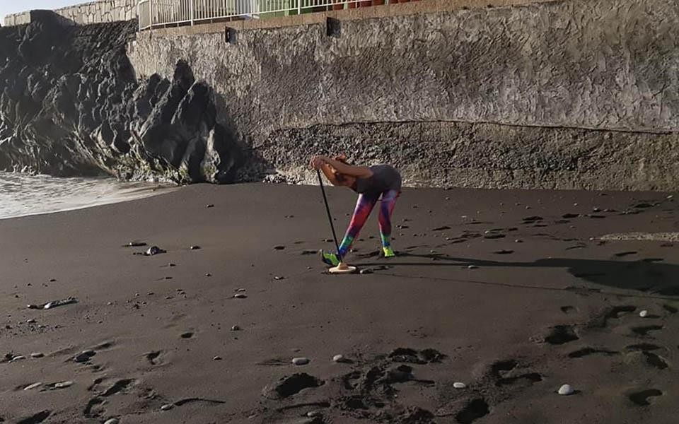 Singleboard am Strand 3